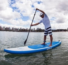 Supflex KA101BA inflatable paddleboard being used by a man
