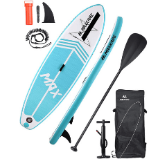 MaxKare Inflatable Paddle Board on white background