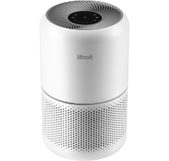 Levoit Core White Air Purifier on white background
