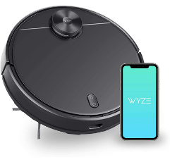 Wyze Robot Vacuum Cleaner on white background