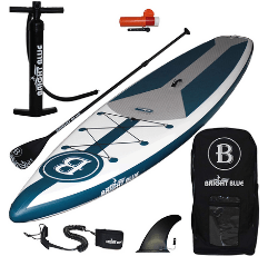 BRIGHT BLUE Inflatable Stand Up Paddle Board on white background